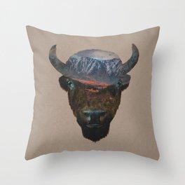 Bison Peak Throw Pillow