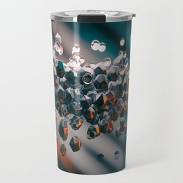 Abstract background with 3D primitives Travel Mug