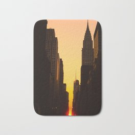 Manhattanhenge along 42nd Street NYC Bath Mat