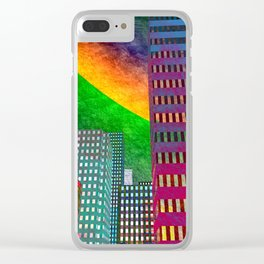 the colored city -2- Clear iPhone Case