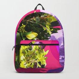 The Unimpressed Tourist (pink version) Backpack