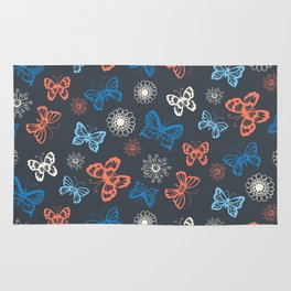 Seamless pattern with butterflies Rug