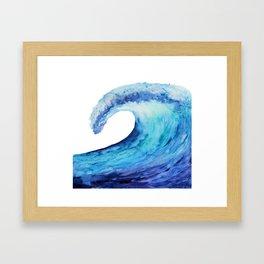 Ocean tsunami wave Framed Art Print