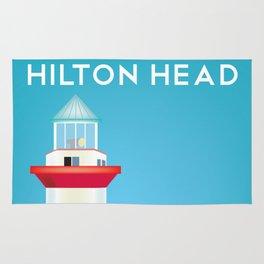 Hilton Head, South Carolina - Skyline Illustration by Loose Petals Rug
