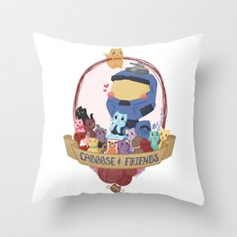 Caboose & Friends Throw Pillow