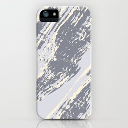 shades of gray marble effect iPhone Case