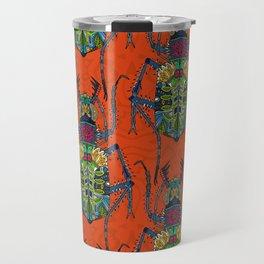flower beetle orange Travel Mug