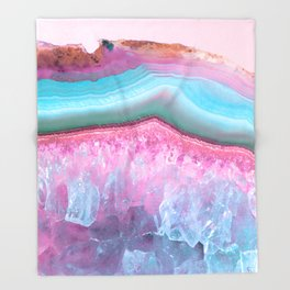 Rose Quartz and Serenity Agate Throw Blanket