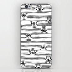 PEEPING TOM [BLK & WHT] iPhone & iPod Skin