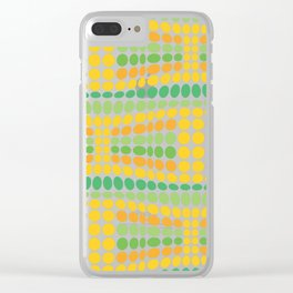 Dottywave - Green Yellow wave dots pattern Clear iPhone Case