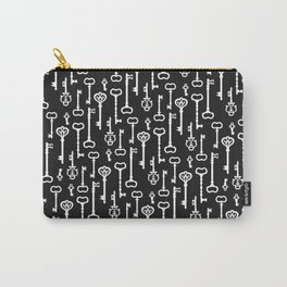 Victorian black & white Keys Carry-All Pouch