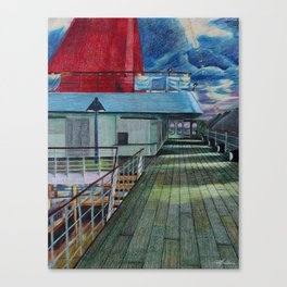 Veranda Deck Canvas Print
