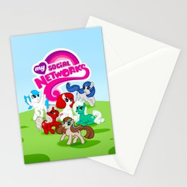 My Social Networks - My Little Pony Parody Stationery Cards