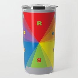 Color wheel by Dennis Weber / Shreddy Studio with special clock version Travel Mug