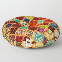 -A32- Epic Colored Traditional Moroccan Artwork. Floor Pillow