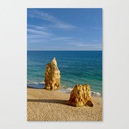 Praia da Rocha rocks Canvas Print