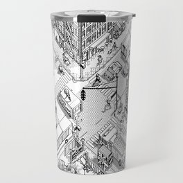 MacPaint project: NYC Travel Mug