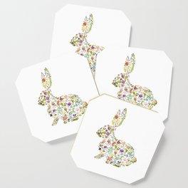 Springtime Flower Bunny Coaster