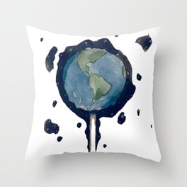 Earth Pop Throw Pillow