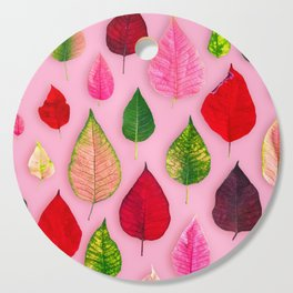 Plants on Pink Cutting Board