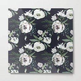 Rustic Floral Print Metal Print