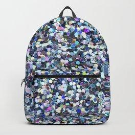 Blue Glittering Sequins Backpack