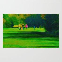 A walk in the park (Digital Art) Rug