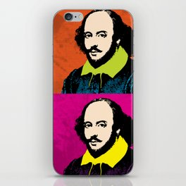 WILLIAM SHAKESPEARE (4-UP POP ART COLLAGE) iPhone Skin