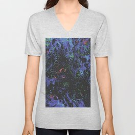 Purple Webbed Fog Unisex V-Neck