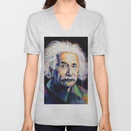 Albert Einstein Unisex V-Neck