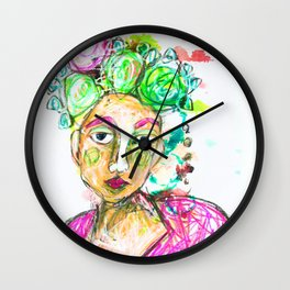 She tried to understand him Wall Clock