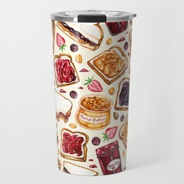 Peanut Butter and Jelly Watercolor Travel Mug