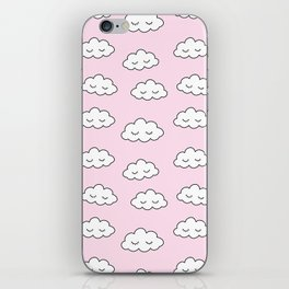 Dreaming clouds in pink iPhone Skin