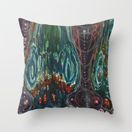 Pulse of Kelp (Sonic Sea Surge) Throw Pillow