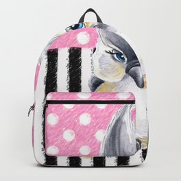 Cute Titmouse Pink Polka Backpack