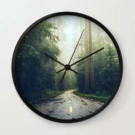 Redwood Forest Adventure - Nature Photography Wall Clock