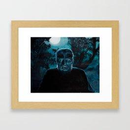 Wolf-Man on the Hunt Framed Art Print