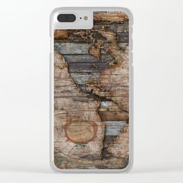 Reclaimed Map Clear iPhone Case