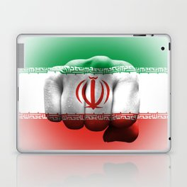 country flag of iran fist power war aggression Laptop & iPad Skin