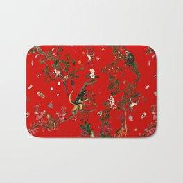 Monkey World Red Bath Mat