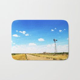 Windmill in the Texas Panhandle Bath Mat