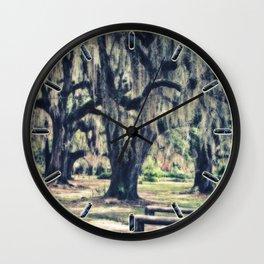 Spanish Moss Wall Clock