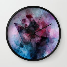 Stitched & Shattered Wall Clock