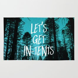 Lets Get In Tents Rug