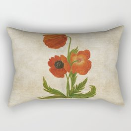 Vintage painting - Bunch of poppies Poppy Flower floral Rectangular Pillow