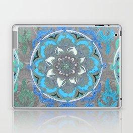 Mint Green, Blue & Aqua Super Boho Medallions Laptop & iPad Skin