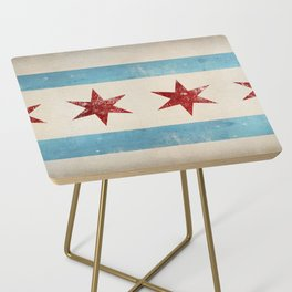 Chicago Flag Side Table