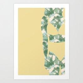 Back to Nature (NZ Ferns) Art Print