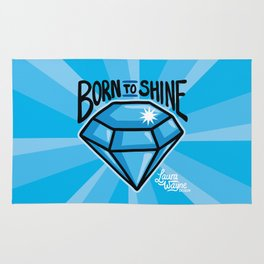 Born To Shine Diamond - Laura Wayne Design Rug