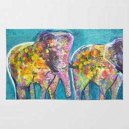 The world is full of elepants Rug